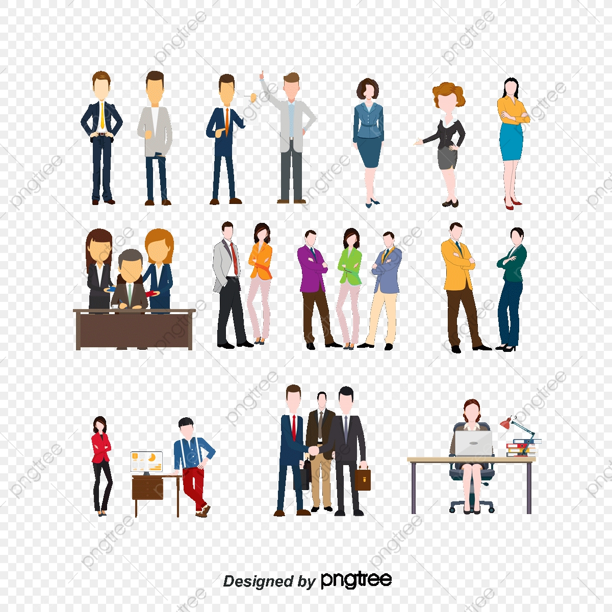 Vector Business People Collection, Business Vector, People Vector.