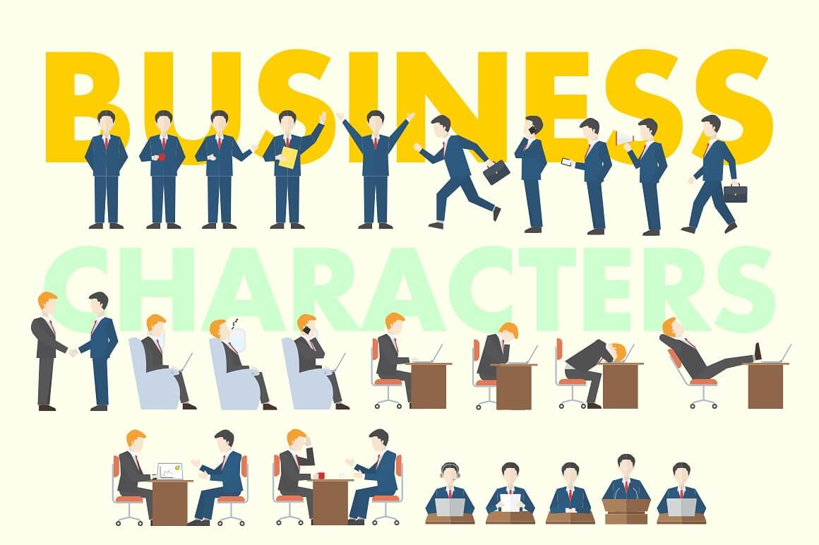 Business People Clipart Collection.