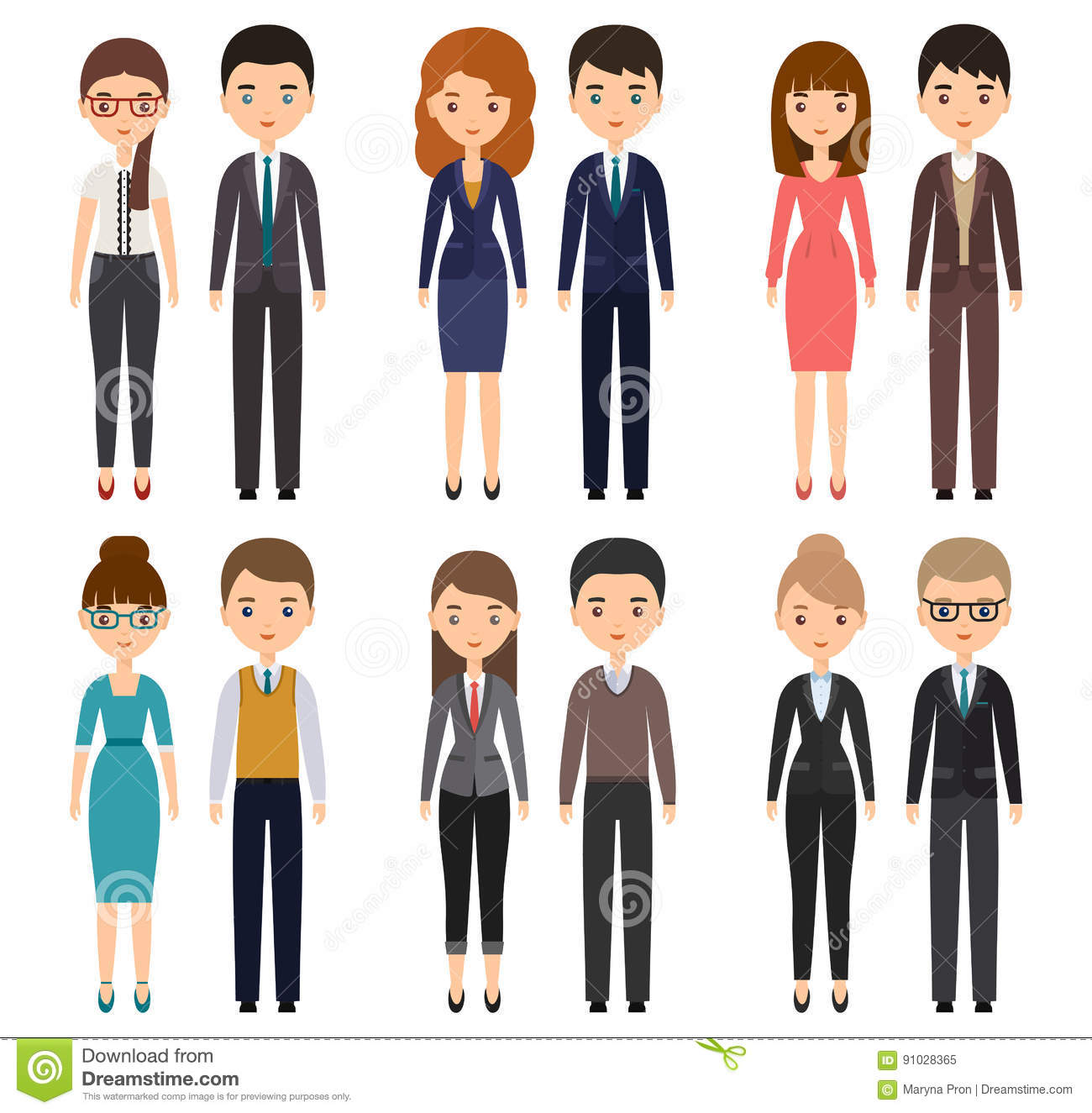 Office Man Clothing Clipart.