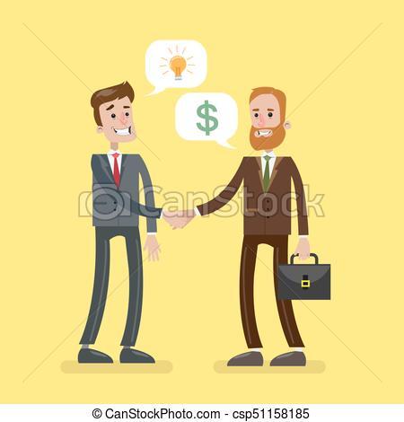 Men at business deal..