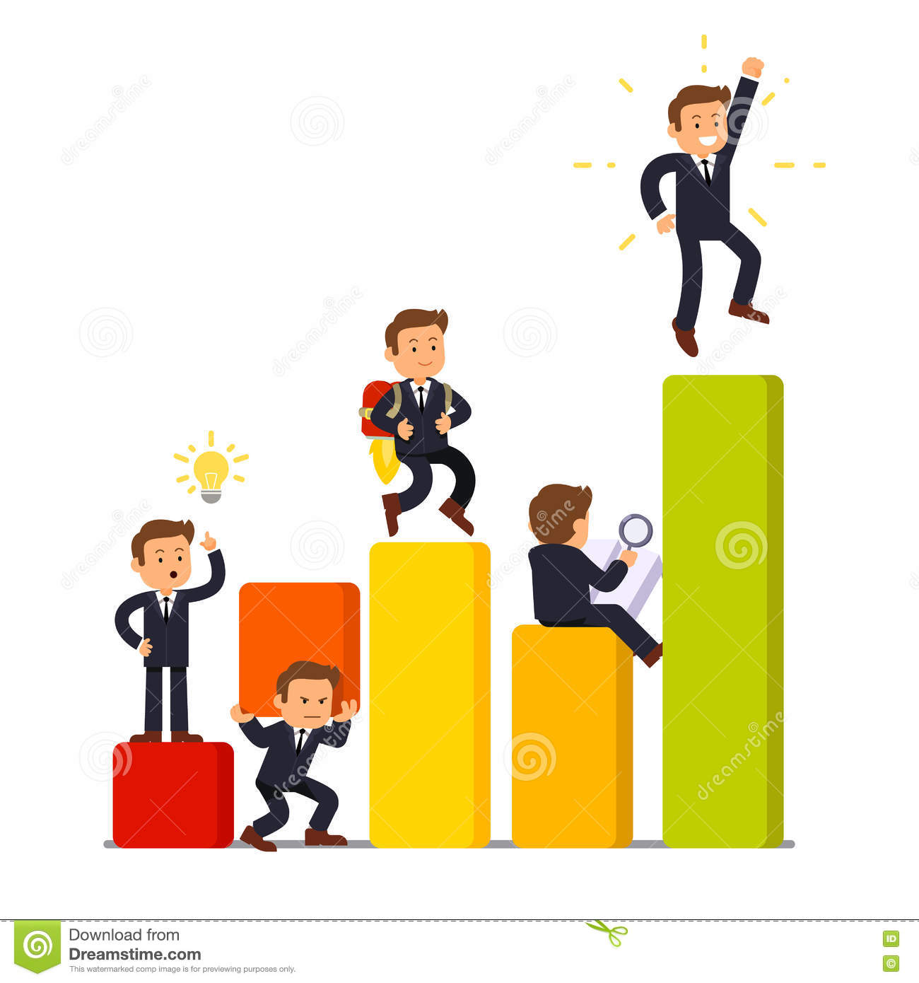 Stages Of Business Development And Growth Stock Vector.