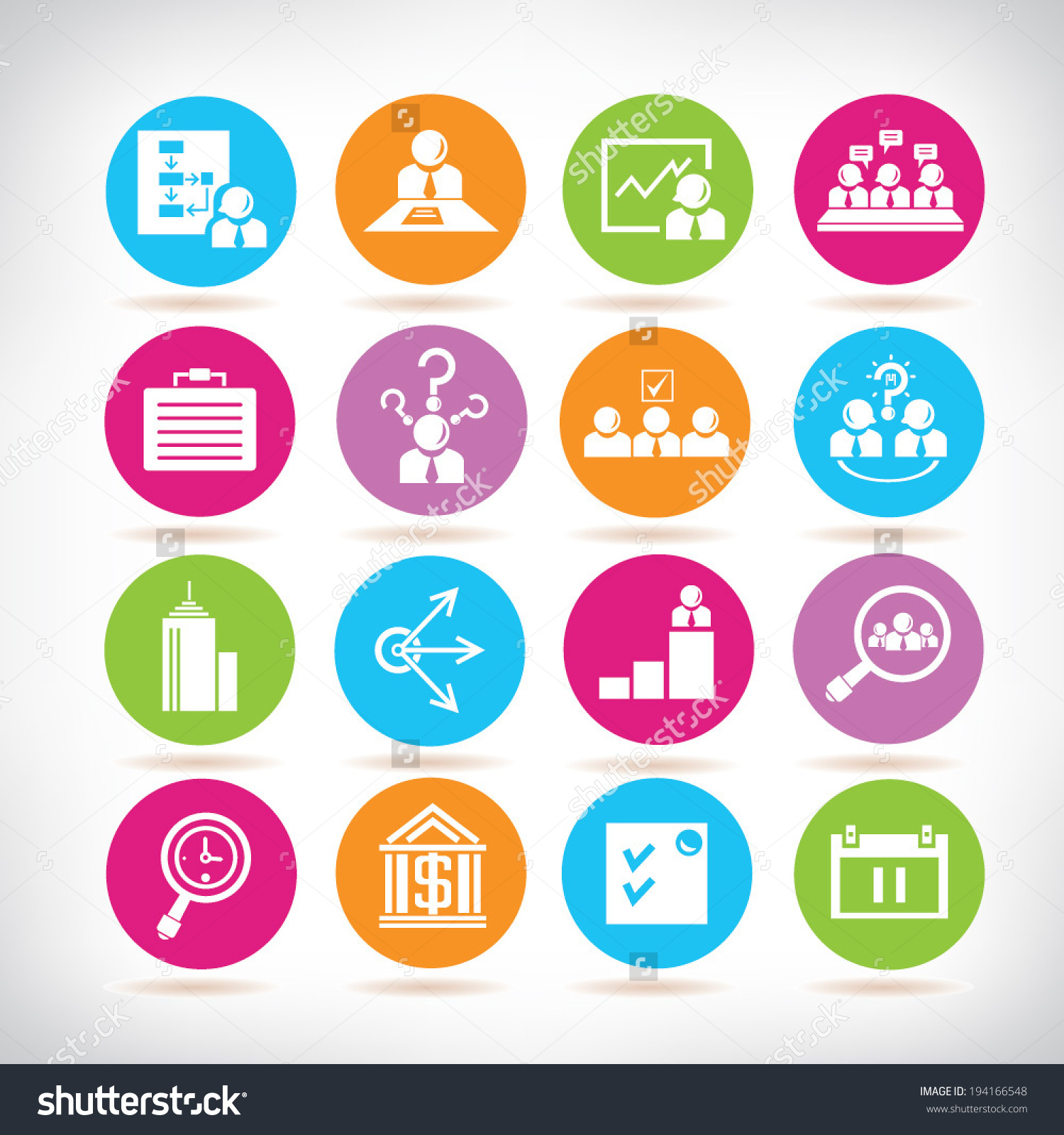 Business Development Icons Business Management Icons Stock Vector.