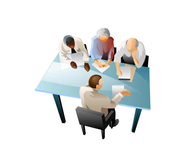 Business Discussion Clipart.