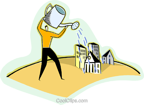 expanding growth in business Royalty Free Vector Clip Art.