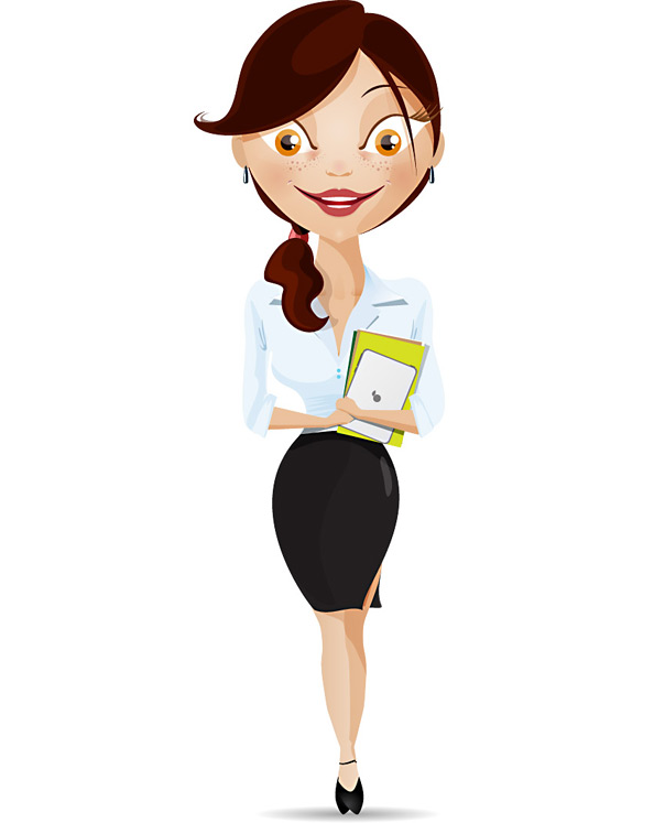 Showing post & media for Cartoon business woman clipart.