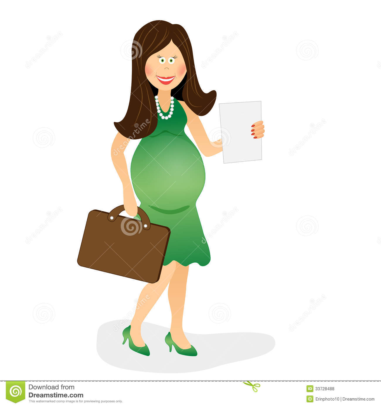Pregnant Business Woman 2 Royalty Free Stock Photos.
