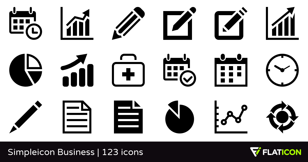 Simpleicon Business +120 free icons (SVG, EPS, PSD, PNG files).