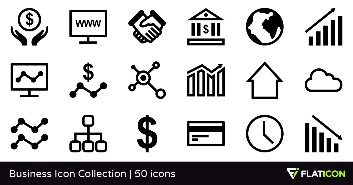 Business Icon Collection 50 free icons (SVG, EPS, PSD, PNG files).