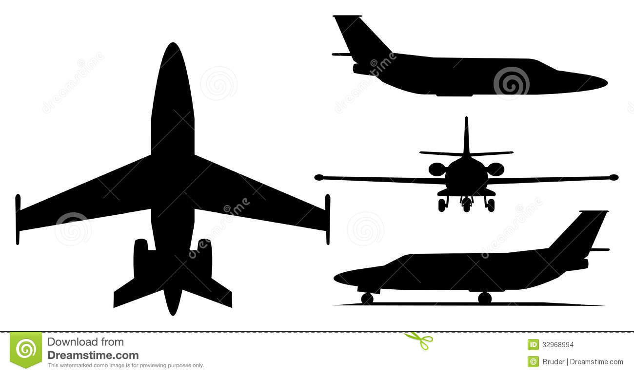 Business jet clipart #7