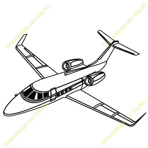 Private Jet Business Clipart.