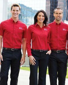 Details about 12 Custom LOGO S608 Port Authority MEN/WOMEN Business Dress  Long Sleeve Shirt.