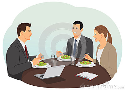 Business Team Meeting In A Modern Office Stock Vector.