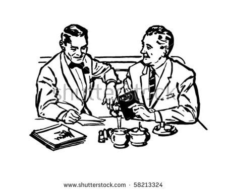Business Lunch Meeting Stock Vectors, Images & Vector Art.