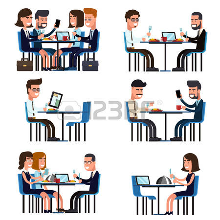 15,249 Business Lunch Stock Vector Illustration And Royalty Free.
