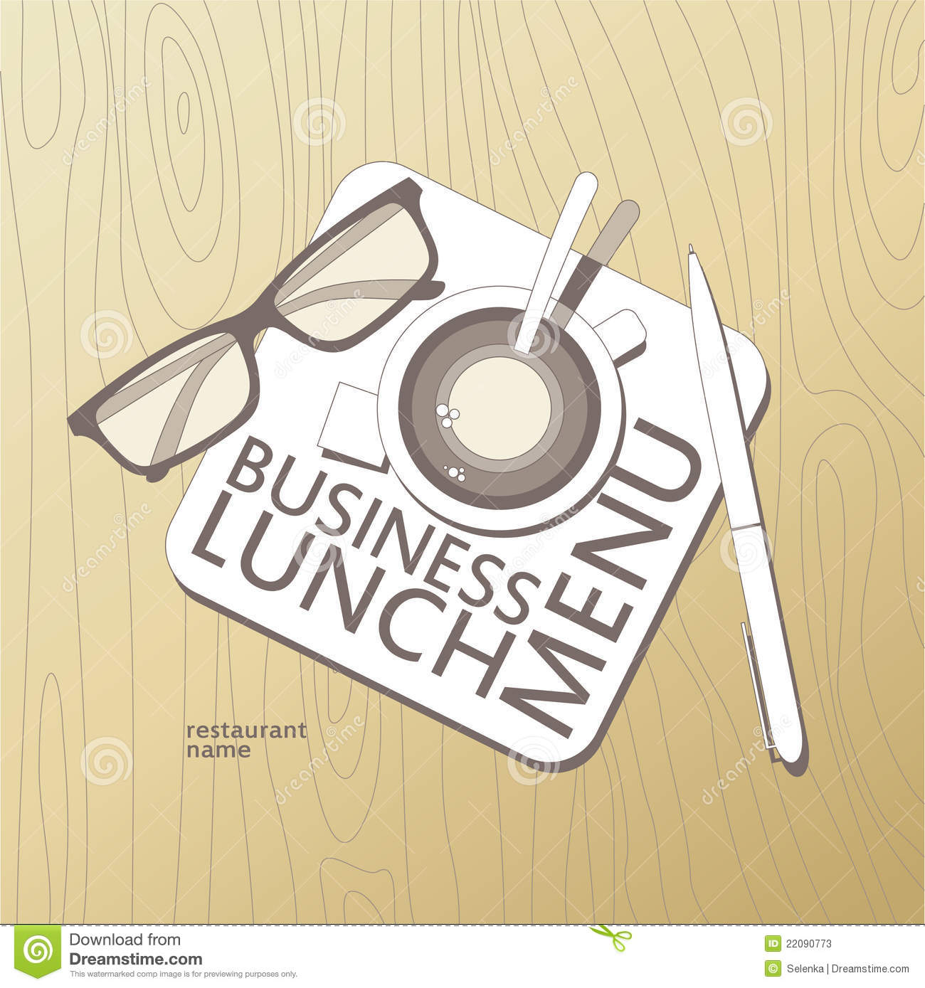 Business Lunch Menu Template. Stock Photos.