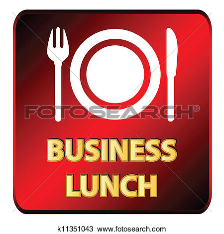Clipart of Business lunch logo k11351043.