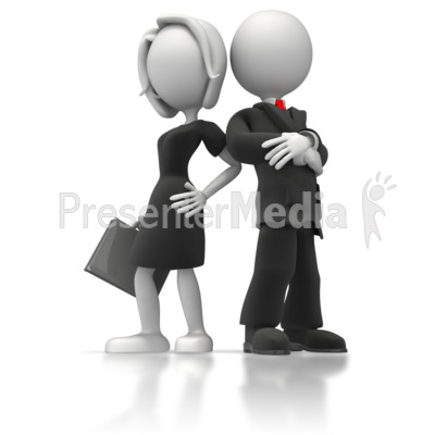 Male Female Business Clipart.