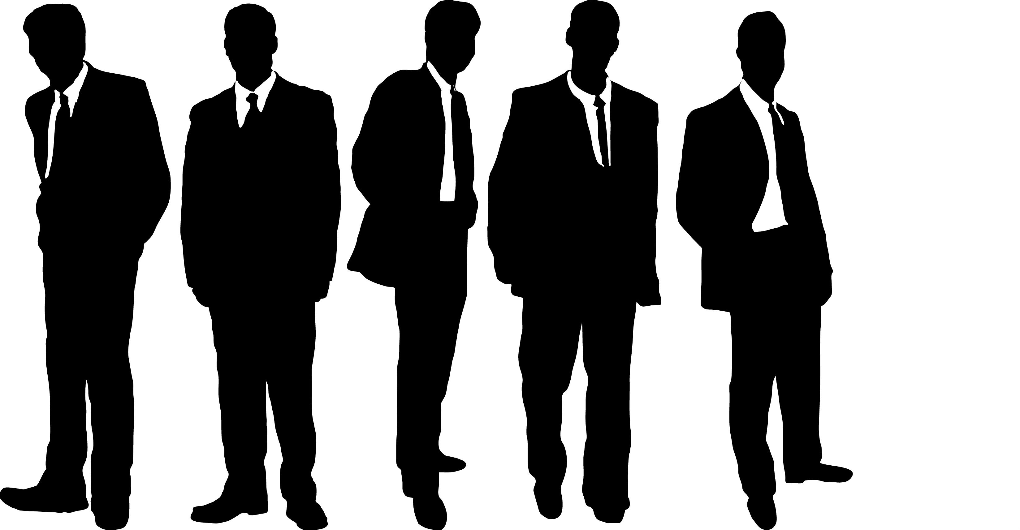 Three Business Men Clipart.