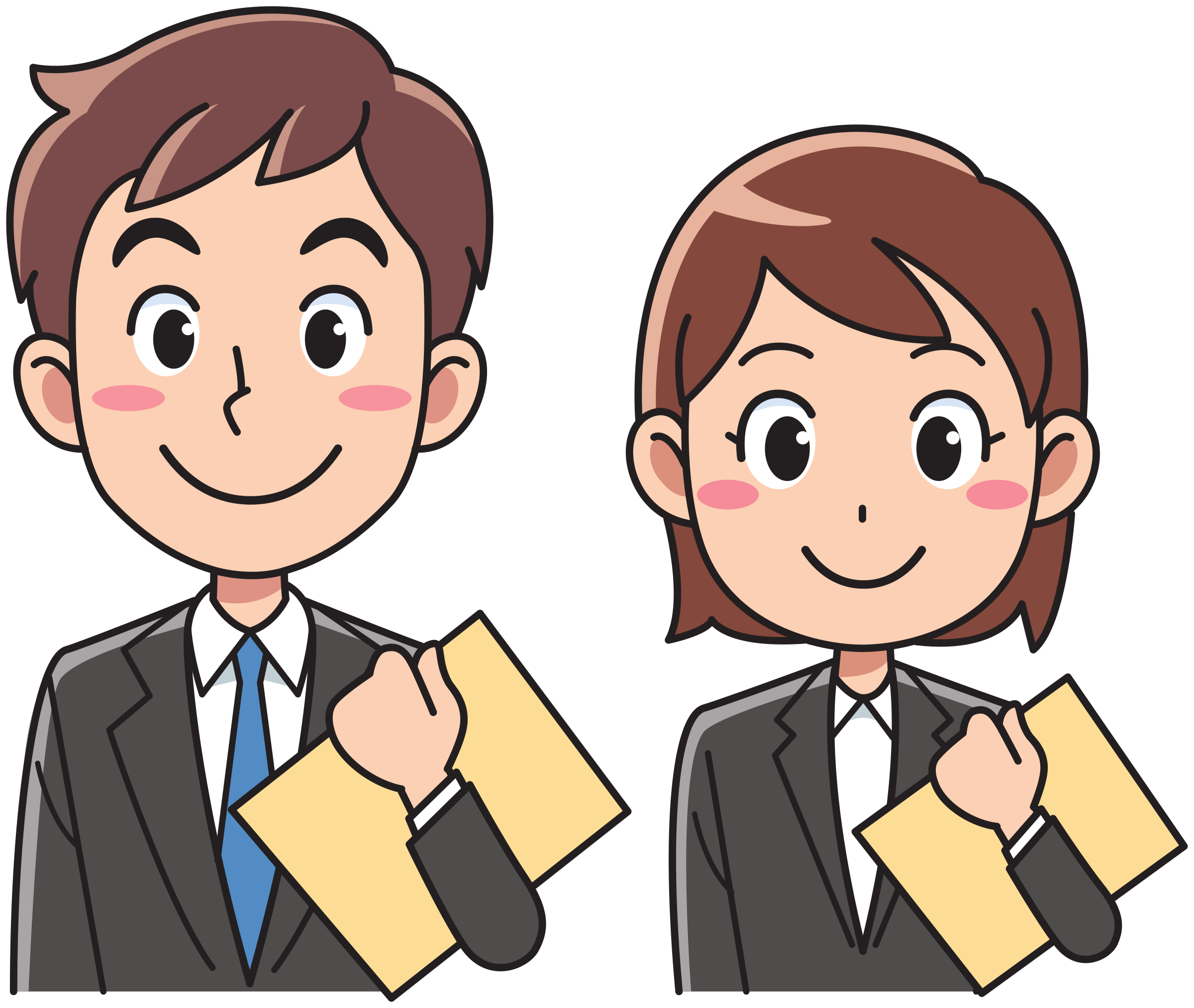 Business Man And Woman Clipart.