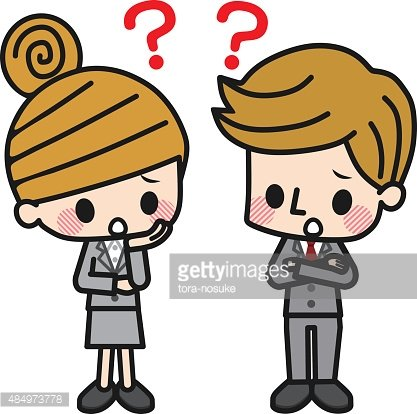 Business Man and Business Woman Clipart Image.