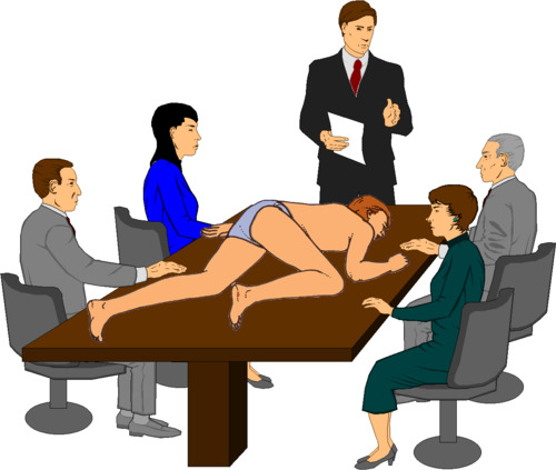 Business meeting clipart 5.