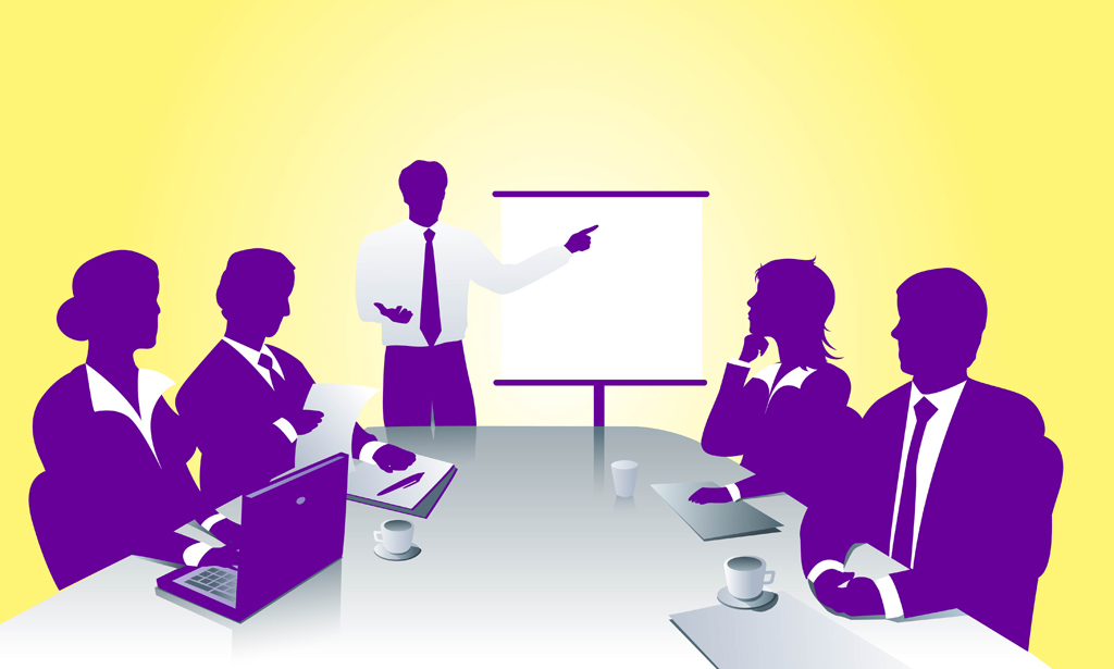Business People Meeting Clipart.