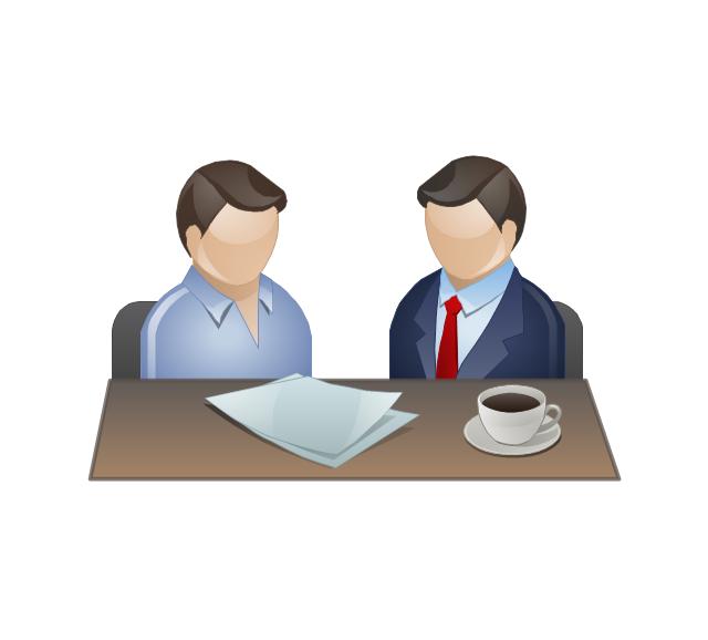 Business meeting clip art 2.