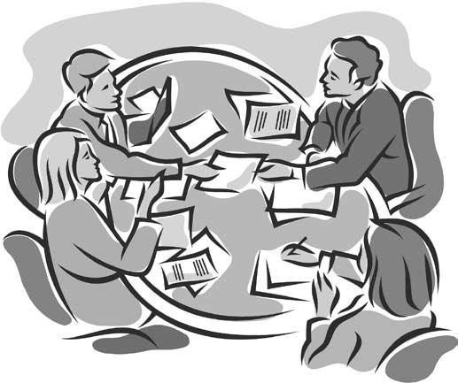 Business meeting clip art free 2.
