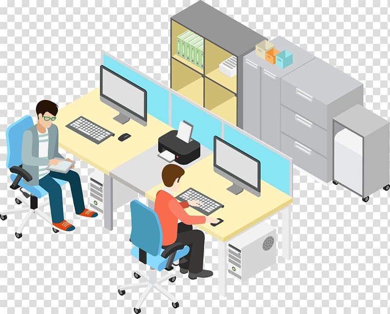 Office Illustration, business office People, people on.