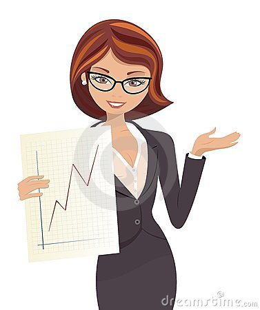 Women business owner clipart.