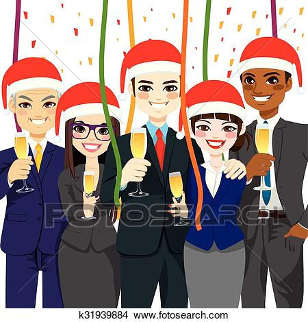 Business Christmas Party Clipart.