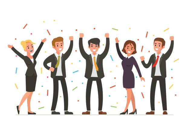 Best Office Celebration Illustrations, Royalty.