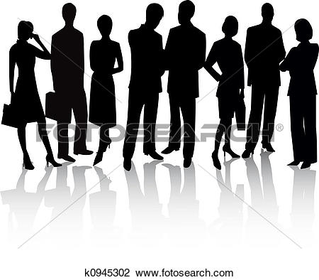 Clip Art of Business People k0945302.
