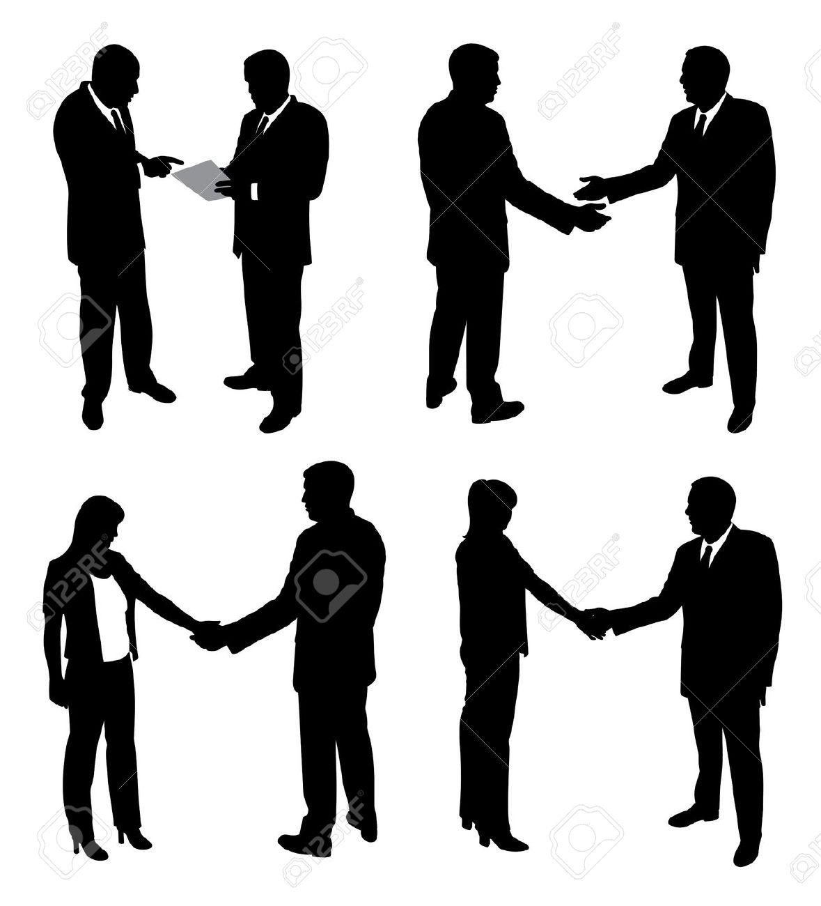 Black and white handshake line art free clip clip art.