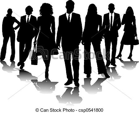Business People Clipart Black And White.