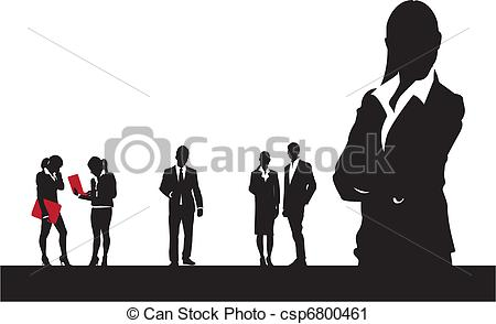 Vector Clip Art of business people.