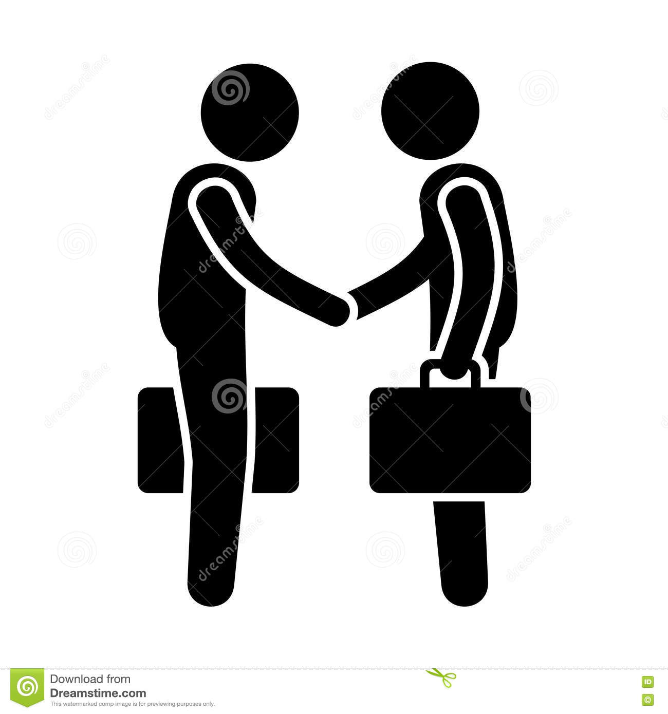 Handshake Business People Logo Stock Photography.