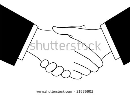 Handshake Clipart Sketch Business People Shaking Stock Vector.