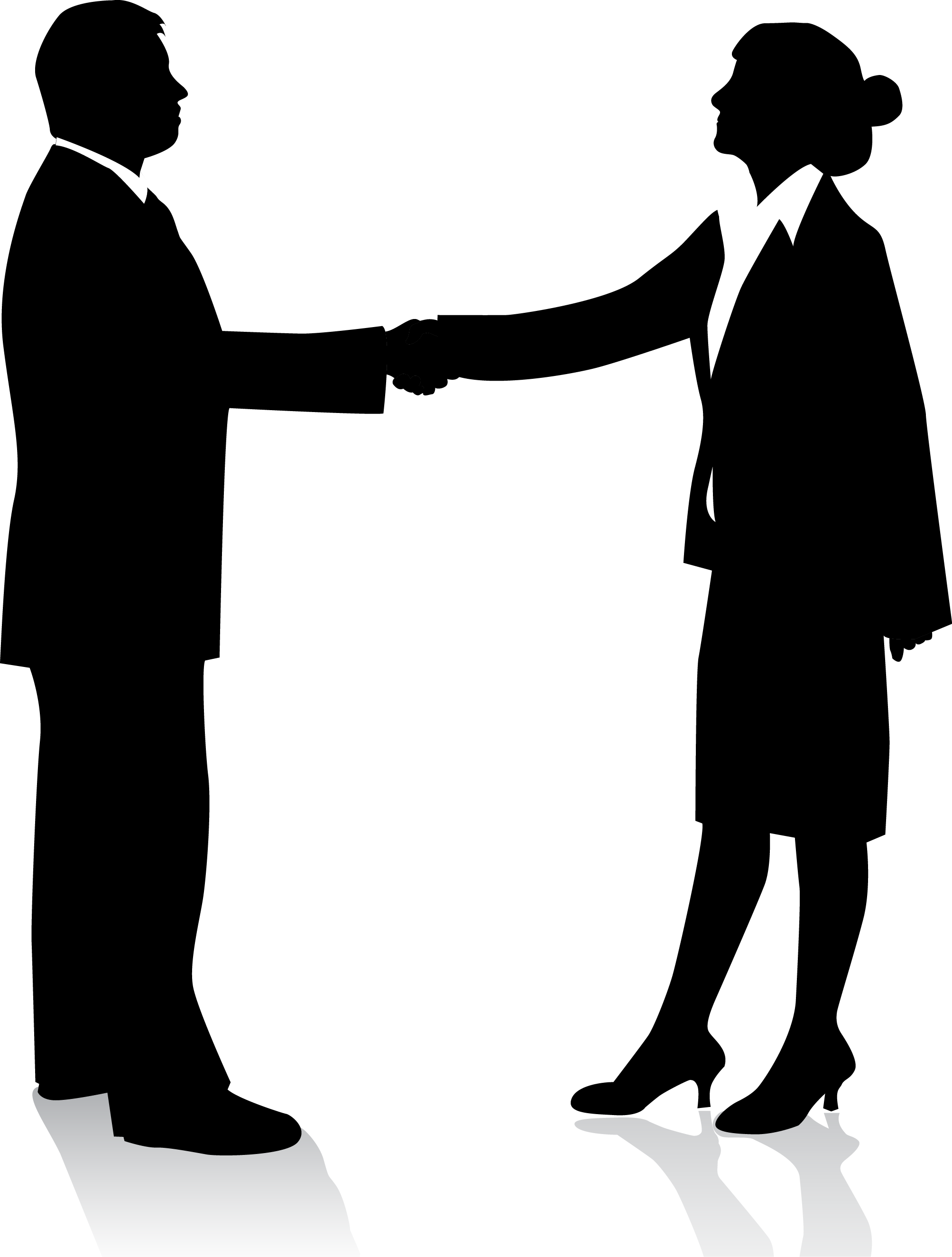 business people handshake clipart - Clipground for Business People Silhouette Png  555kxo