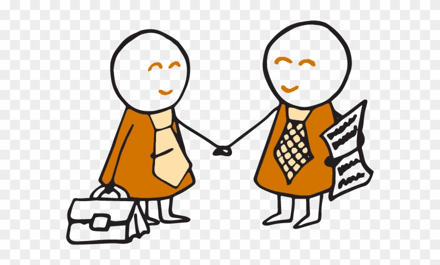 Two Business People Shaking Hands Clipart (#2243184.