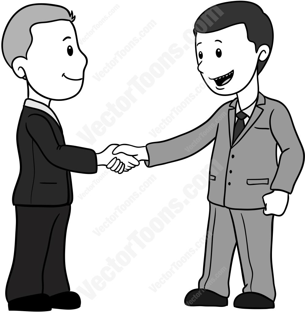 Clipart Man Shaking Hands.