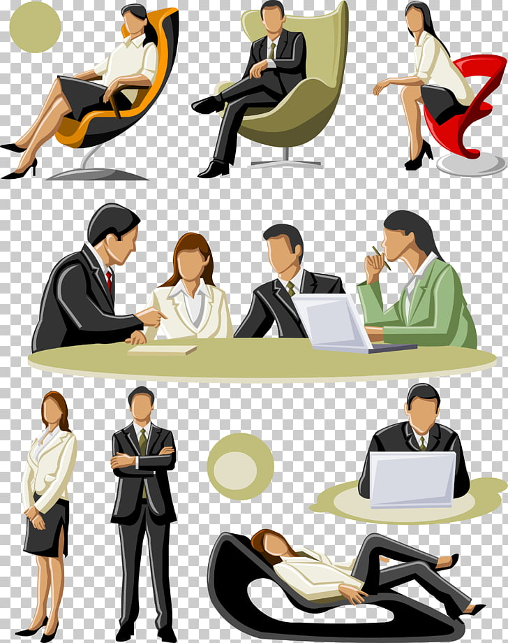 Businessperson , Business people talking PNG clipart.