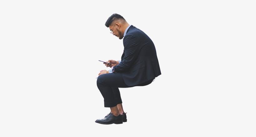 Business Man Smartphone Architecture.