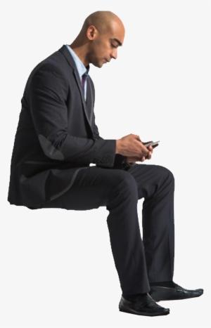 Man Sitting PNG Images.