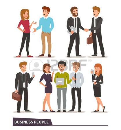 64,881 Business People Talking Stock Vector Illustration And.