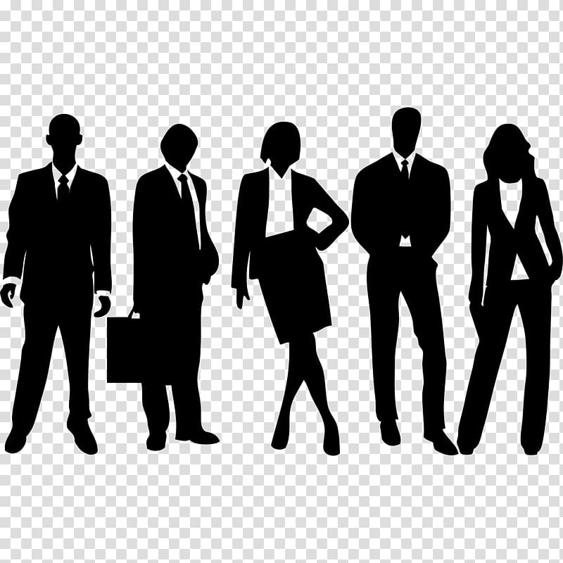 Businessperson Silhouette , Business transparent background PNG.