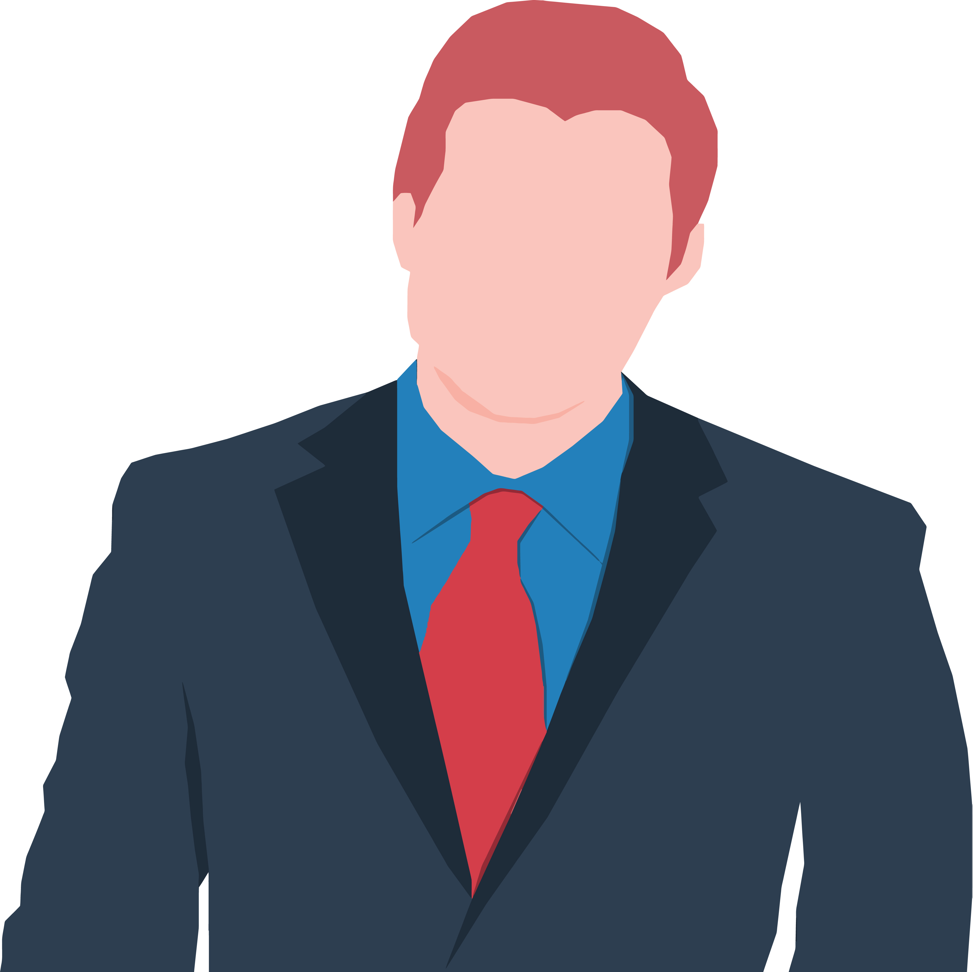 Free Clipart Of A Faceless Business Man Avatar.