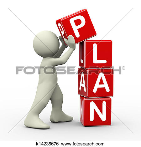 Stock Illustration of Business plan for improvement 2015.