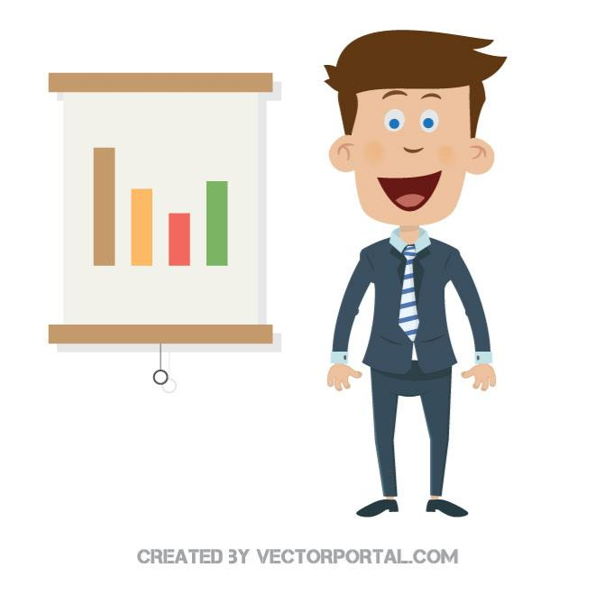 Business presentation graphics.