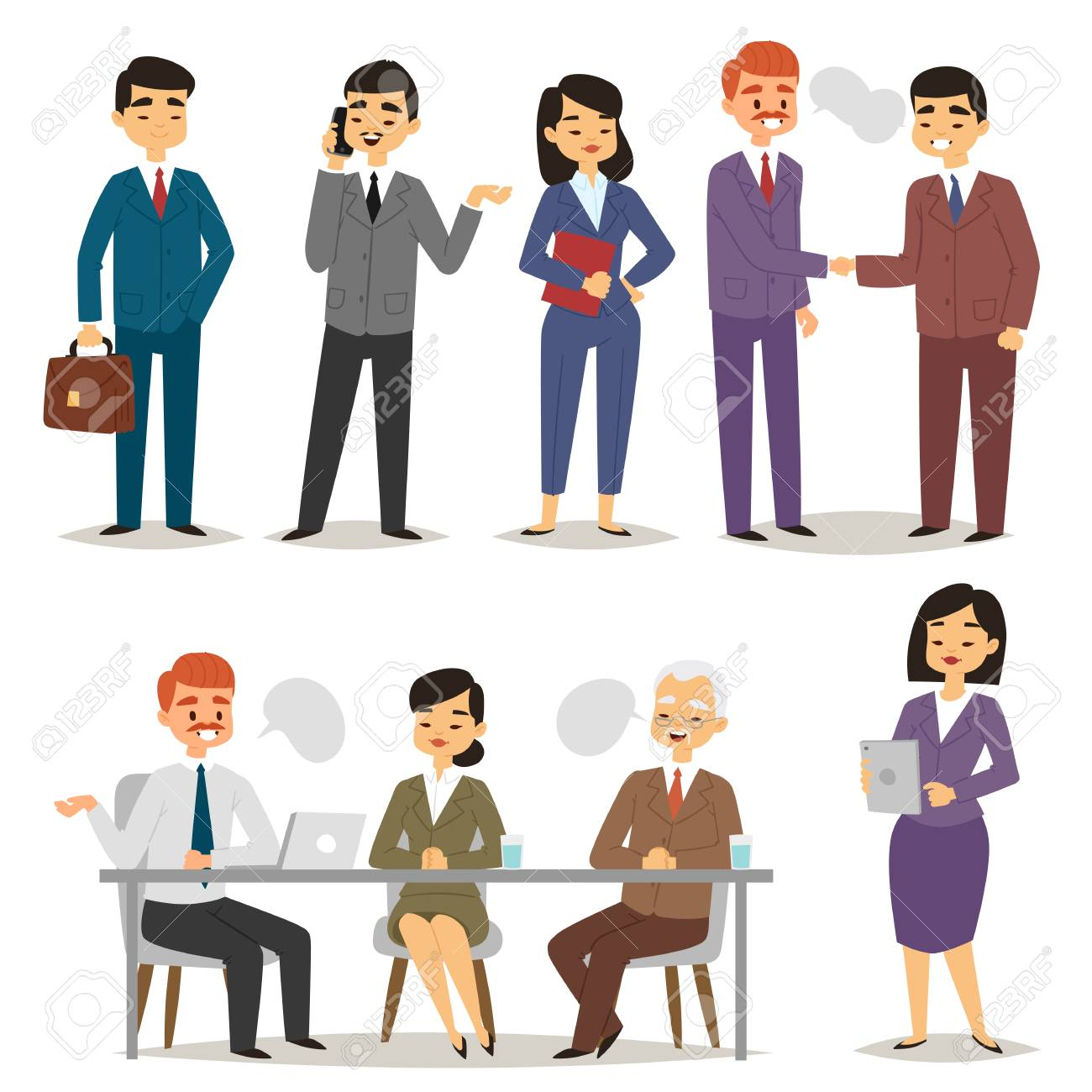 Group asia working executive chinese business people professional...